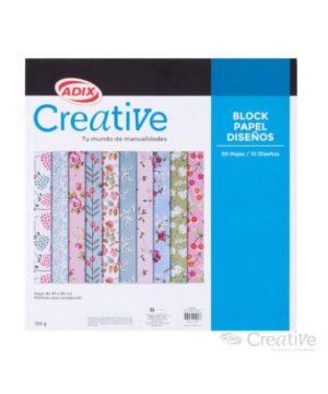 Block papel Impreso 10 Diseños 50u