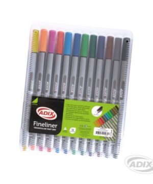 Fineliner 12 colores caja plástica