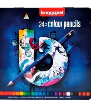 Lápices Hexagonales 24 Colores Bruynzeel – Caja Metálica