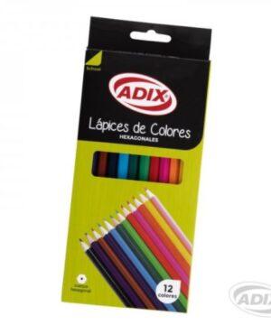 Lápiz Largo Hexagonal 12 Colores